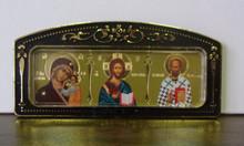 Icon- Kazan, Christ & St. Nicholas for car or room (1)