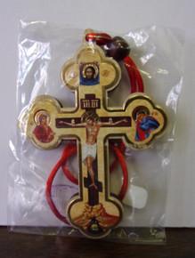 Cross- Cross on Red Cord