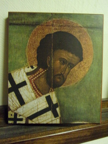 Icon- St. John Chrysostom (14th c.)
