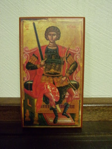 Icon- St. George Enthroned