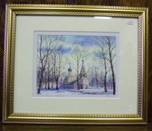 Wall Art- Russian Church in Winter (5)
