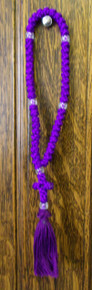 Prayer Rope- 50 Knot Purple Prayer Rope
