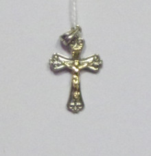 Jewelry- Silver Cross With Gold Crucifix Pendant