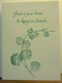 "Greeting Card- ""Just A Few Lines To Keep In Touch..."" Note Card"