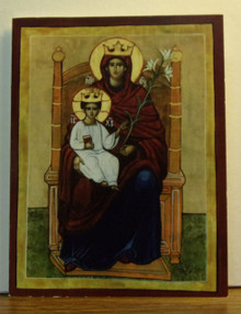 """Greeting Card- """"Theotokos Enthroned"""" Note Card"""