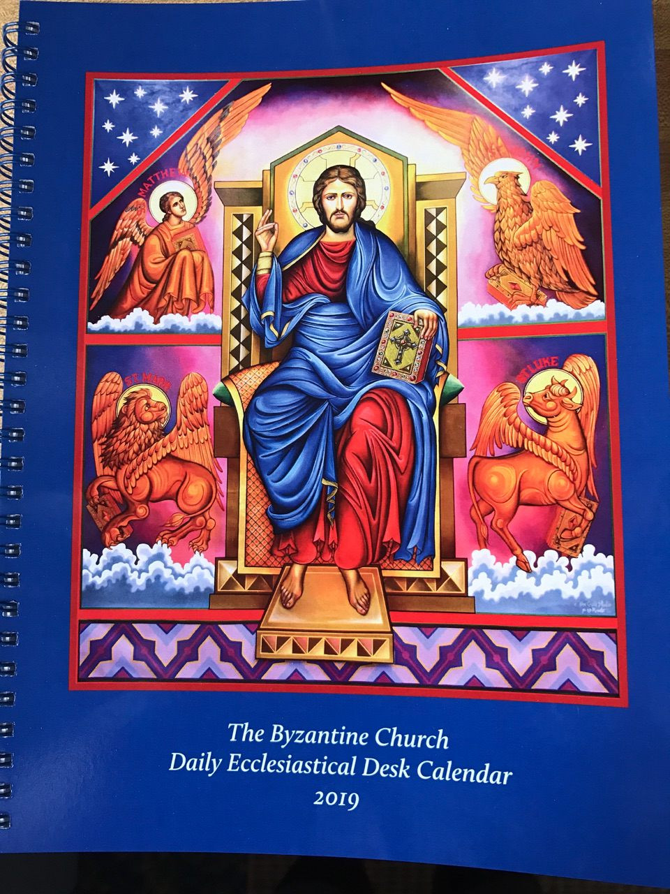 calendar the byzantine church daily ecclesiastical desk calendar 2019