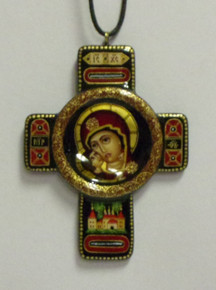 Jewelry- Black Theotokos Neckcross