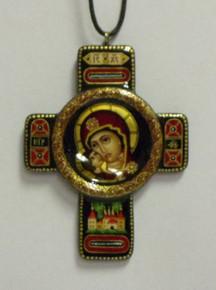 Jewelry- Black Theotokos Neckcross