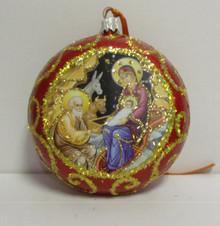 Ornament- Nativity Ornament (1) (Red)