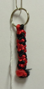 Prayer Rope- Key Chain (Black & Red)
