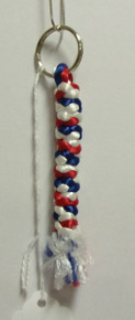 Prayer Rope- Key Chain (Red, White & Blue)