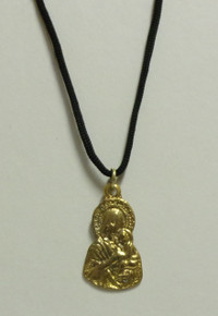 Jewelry- Virgin Medal On Black Cord