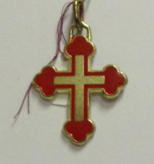 Jewelry- Large Cross Pendant (Red & Blue)