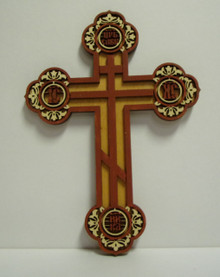 Cross- Pan Orthodox Lazor Cut Wood Cross