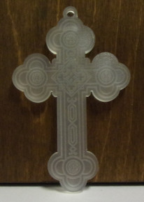 Cross- Frosted Plastic Budded Cross