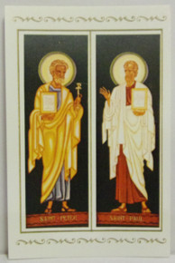 Holy Card- St. Peter & St. Paul Holy Card