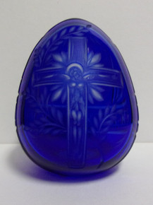 Egg- Glass Pysanky (Blue)