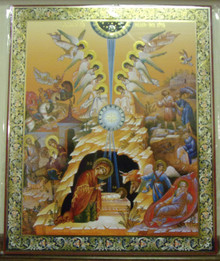 Icon- Nativity Of Christ Surrounded By Angels - xl