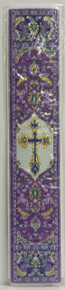 Bookmark- Purple Cross Tapestry Bookmark