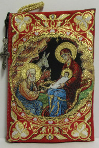 Pouch- Nativity (red)