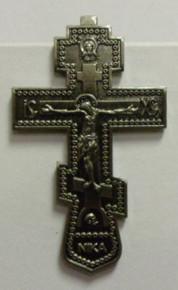 Visor Clip- Silver Cross