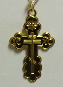 Jewelry- Gold Plated Budded Cross Pendant