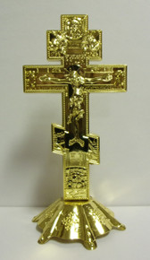 Cross- Greek Style Metal Standing Cross