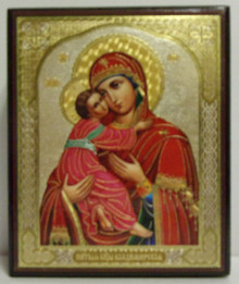 "Wooden ""Virgin Of Vladimir"" Icon Box"