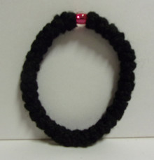 Prayer Roper- Black Wool Prayer Rope Bracelet