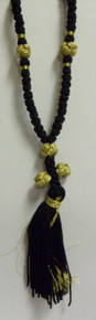 Prayer Rope- 50 Knot Prayer Rope (Black & Gold)