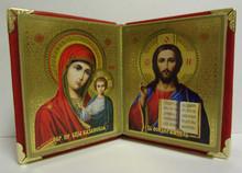 Icon- Virgin Of Kazan & Christ The Teacher Diptych
