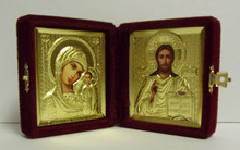 Icon- Christ and Theotokos Diptych