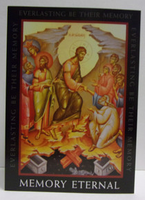 Greeting Card- Memory Eternal With Resurrection Icon