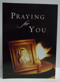 Greeting Card- Praying For You With Candle