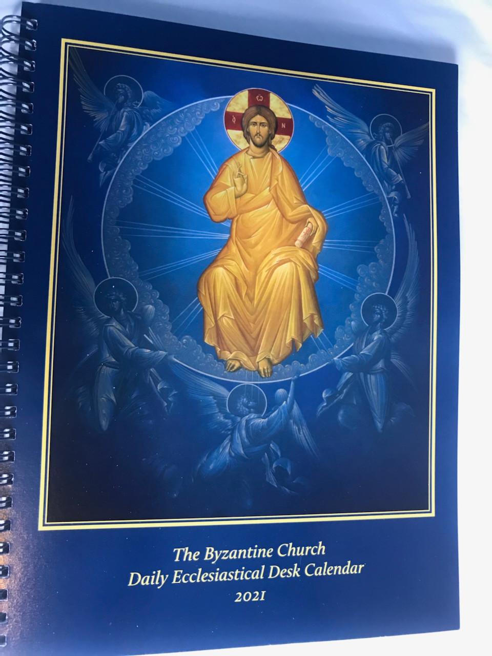 The Byzantine Church Daily Ecclesiastical Desk Calendar 2021