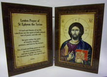 Icon- St. Ephrem Prayer Diptych