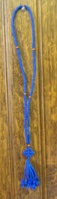 Prayer Rope- Blue 150 Knot Prayer Rope with Wooden Beads