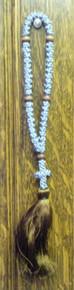 Prayer Rope- Grey 50 Knot Prayer Rope (Brown Tassle)
