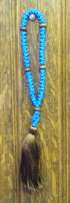 Prayer Rope- Blue 50 Knot Prayer Rope with Brown Tassle