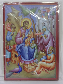 Icon- Christ Blessing The Children (large)