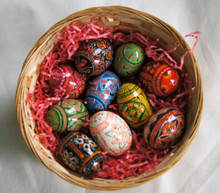 Egg- Handpainted Wooden Eggs - Pysanky - Only a few colors left!!!