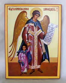 Icon- Guardian Angel with Girl - small