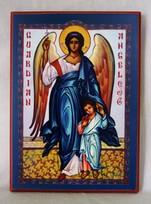 Icon- Guardian Angel with Boy - large