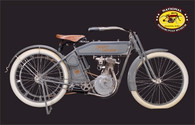 1911 Harley-Davidson Single Motorcycle Postcard