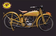 1928 Harley-Davidson B Single Motorcycle Postcard