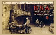 BSA Motor Bicycles Postcard