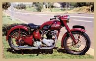1949 Triumph Motorcycle Postcard
