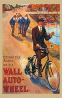 Wall Auto-Wheel Motorcycle Postcard