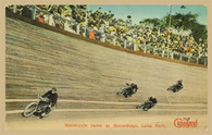 Luna Park Motorcycle Races Postcard
