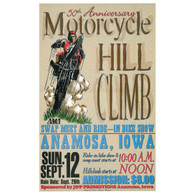 50th Anniversary September 1999 Motorcycle Hill Climb Poster